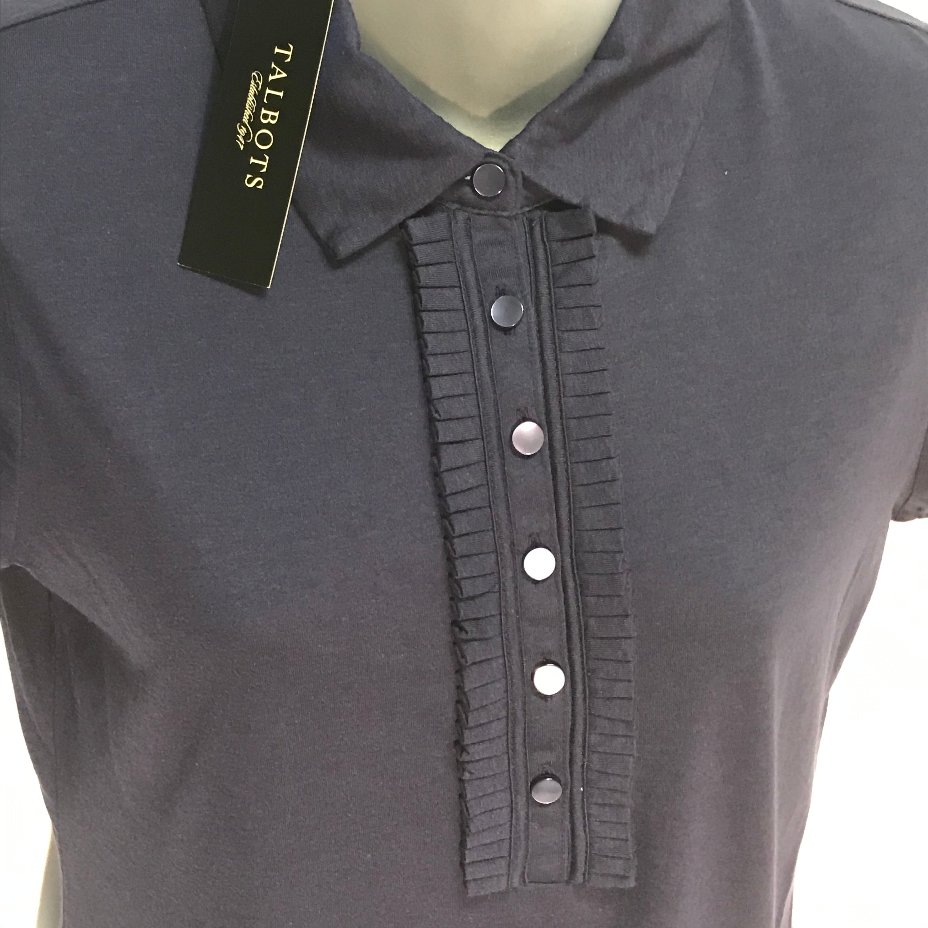 Photo #1 - BRAND: TALBOTS<BR>STYLE: TOP SHORT SLEEVE<BR>COLOR: NAVY<BR>SIZE: S<BR>OTHER INFO: NEW!<BR>SKU: 239-23911-66764