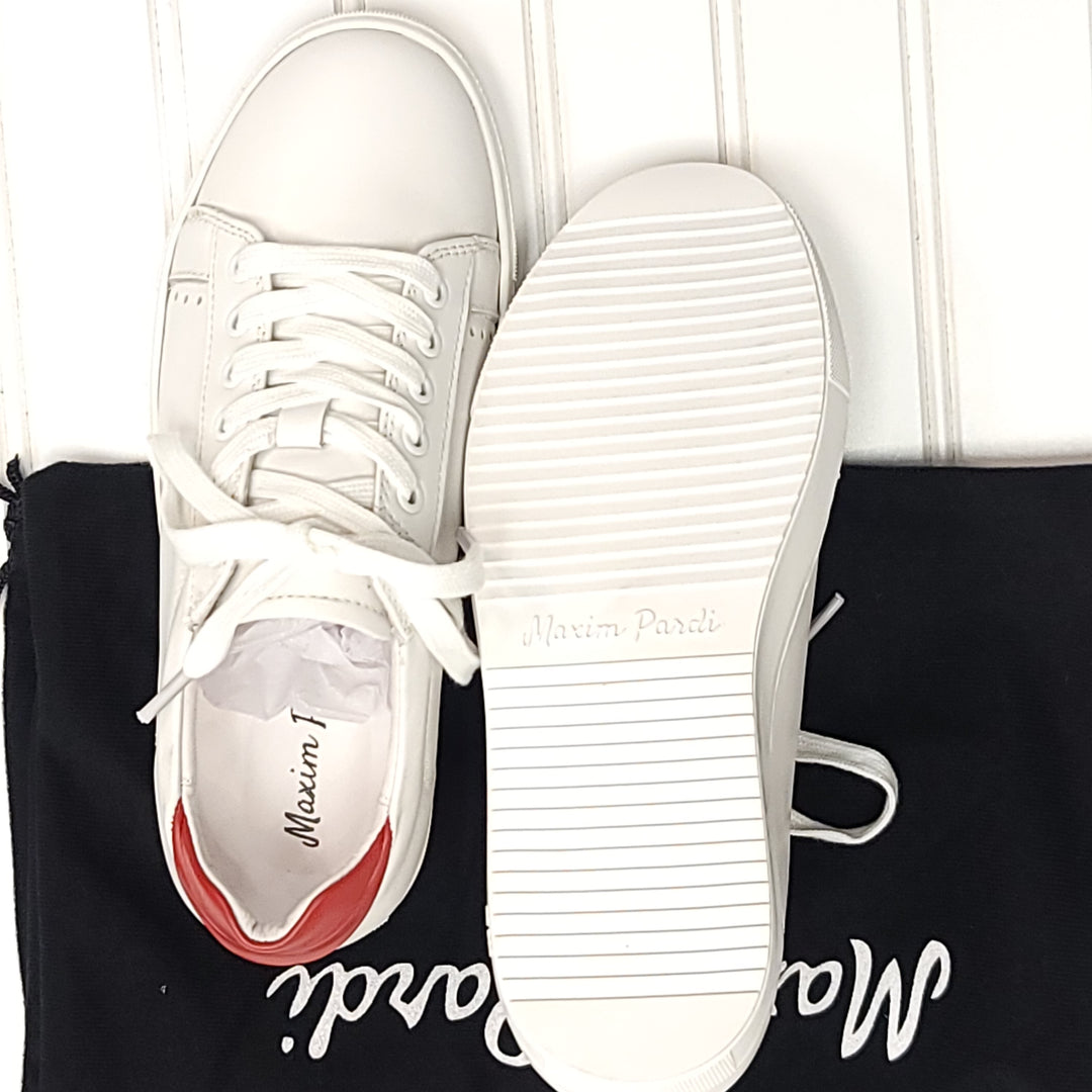 Photo #1 - BRAND:   CMC <BR>STYLE: SHOES ATHLETIC <BR>COLOR: WHITE <BR>SIZE: 6.5 <BR>OTHER INFO: MAXIM PARDI - NEW! KISS LOW TOP <BR>SKU: 239-23911-73249