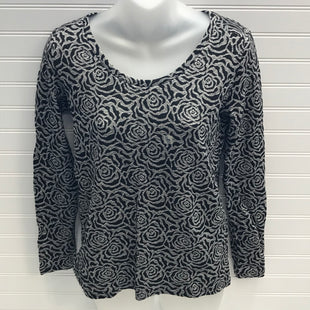 Primary Photo - BRAND: ANN TAYLOR LOFT O STYLE: TOP LONG SLEEVE COLOR: BLACK SILVER SIZE: XS SKU: 239-23911-74068