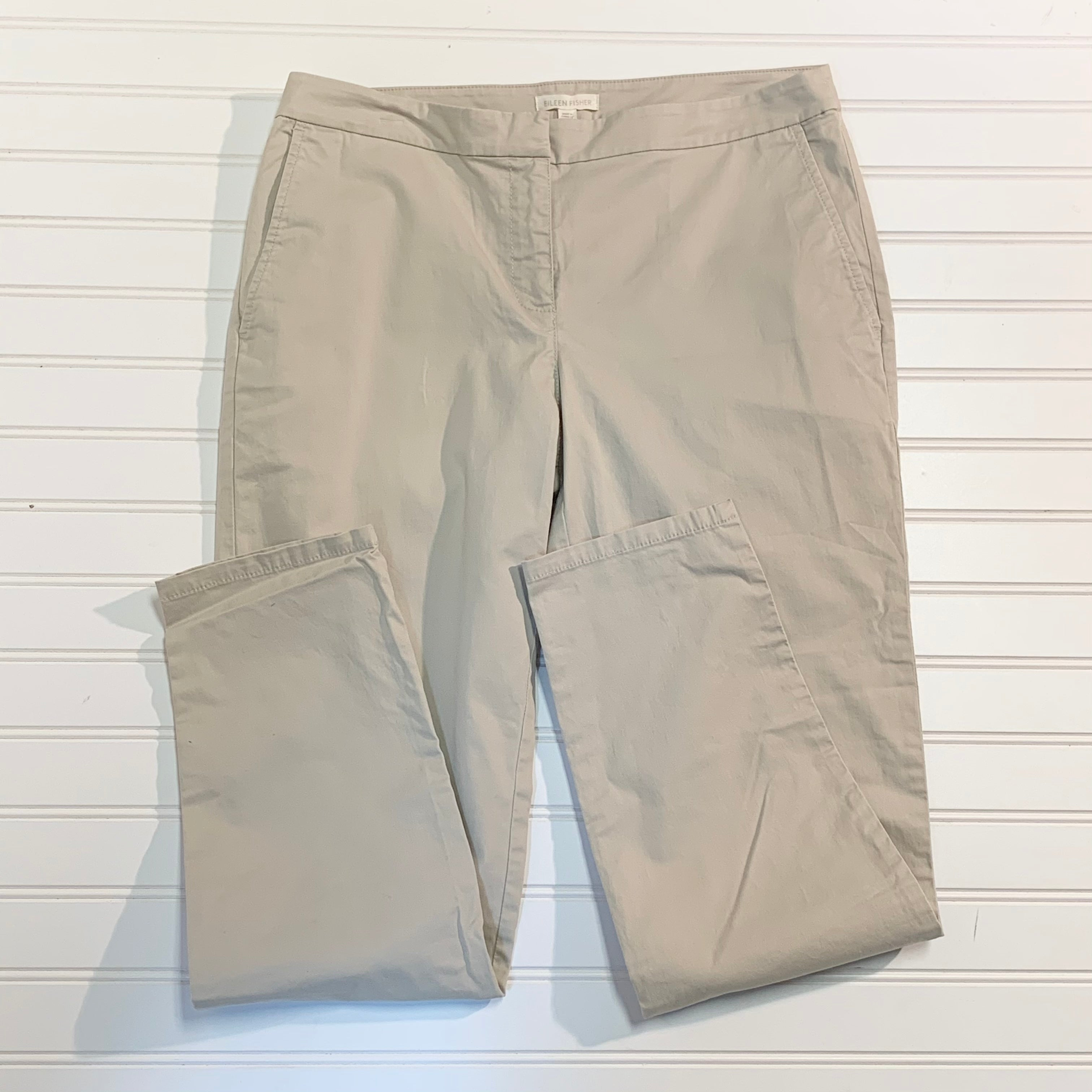 Primary Photo - BRAND: EILEEN FISHER <BR>STYLE: PANTS <BR>COLOR: KHAKI <BR>SIZE: 8 <BR>OTHER INFO: NEW! COTTON TENCEL <BR>SKU: 239-23911-71753