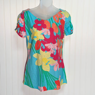 Primary Photo - BRAND: LILLY PULITZER STYLE: TOP SHORT SLEEVE COLOR: TURQUOISE SIZE: M OTHER INFO: FLOWERED SKU: 239-23918-37824