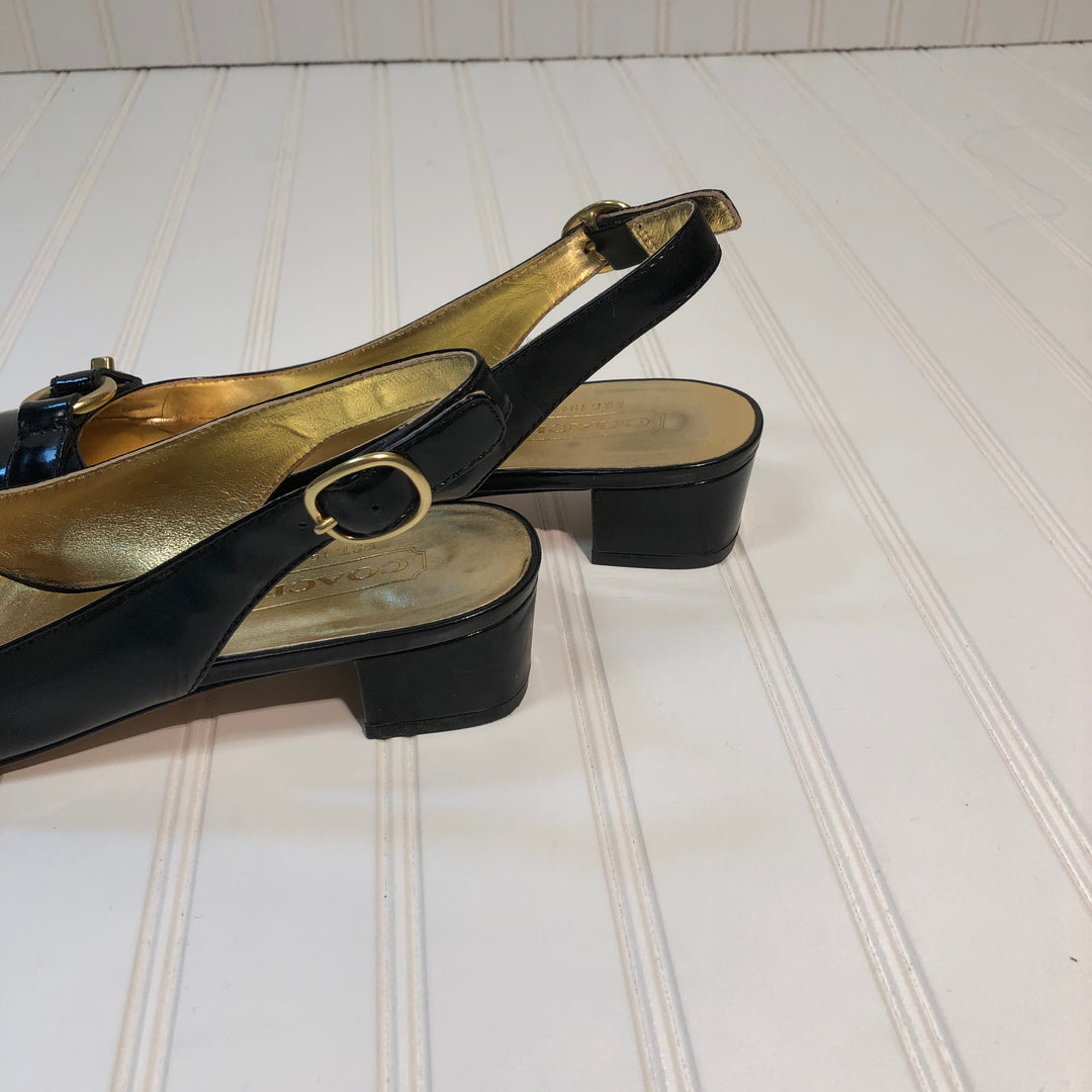 Photo #1 - BRAND: COACH <BR>STYLE: SHOES LOW HEEL <BR>COLOR: BLACK <BR>SIZE: 8 <BR>SKU: 239-23918-33998