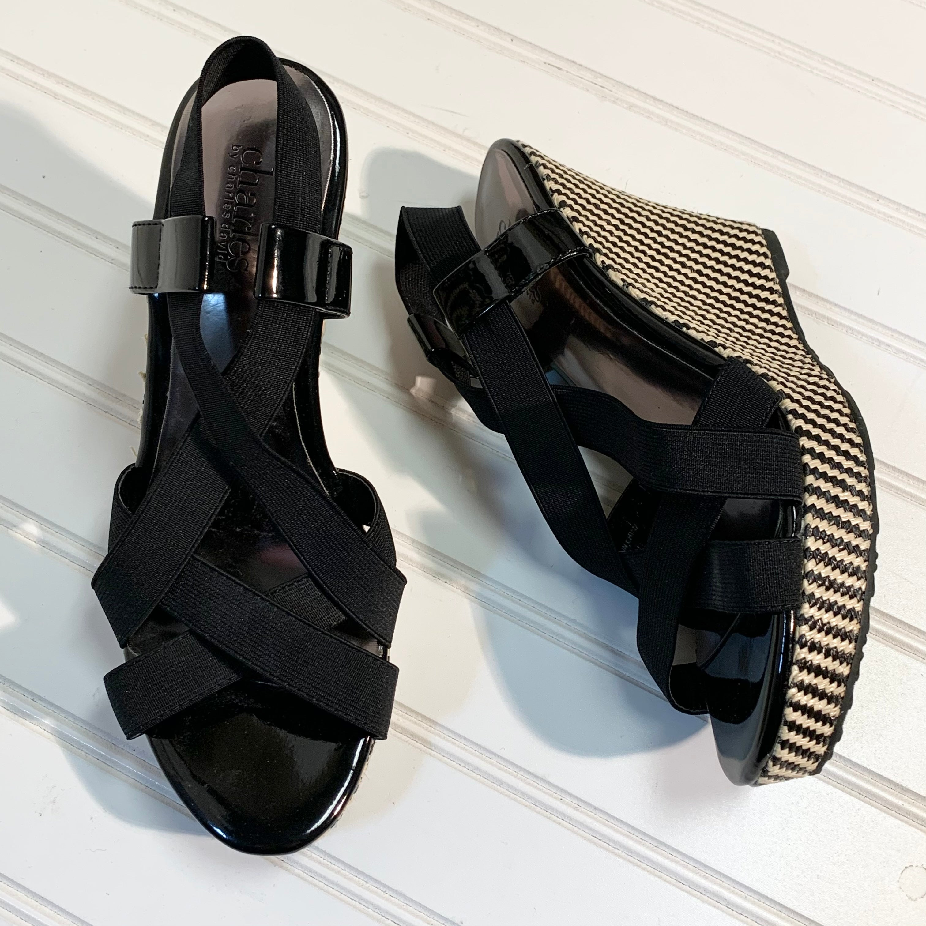 Primary Photo - BRAND: CHARLES BY CHARLES DAVID <BR>STYLE: SANDALS HIGH <BR>COLOR: BLACK <BR>SIZE: 7 <BR>SKU: 239-23911-71706
