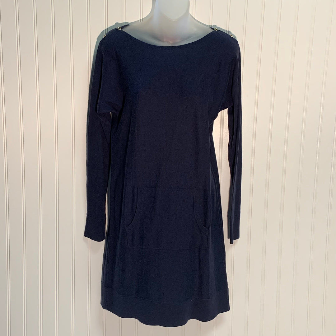 Primary Photo - BRAND: LILLY PULITZER <BR>STYLE: DRESS SHORT LONG SLEEVE <BR>COLOR: NAVY <BR>SIZE: S <BR>SKU: 239-23911-71627