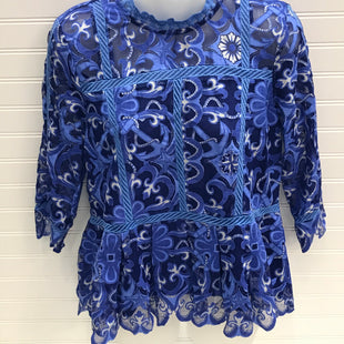 Primary Photo - BRAND: HD IN PARIS STYLE: TOP LONG SLEEVE COLOR: BLUE WHITE SIZE: 4 SKU: 239-23911-73985