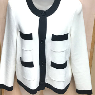 Primary Photo - BRAND: KATE SPADE STYLE: SWEATER CARDIGAN HEAVYWEIGHT COLOR: WHITE BLACK SIZE: M SKU: 239-23911-69919
