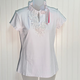 Primary Photo - BRAND: LILLY PULITZER STYLE: TOP SHORT SLEEVE COLOR: WHITE SIZE: S OTHER INFO: UPF 50+ LUXLETIC FRIDA FLOWER POLO TOP SKU: 239-23911-71153