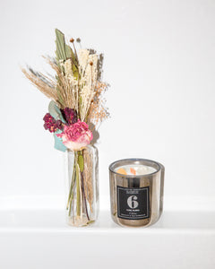 Moms Love Mother's Day Bouquet + Candle Set