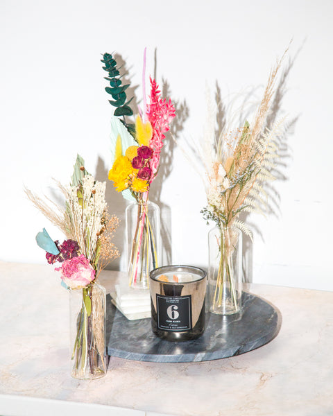 Ice Queen Mother's Day Bouquet + Candle Set