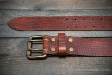 Load image into Gallery viewer, Italian leather belt (3,5-4 mm thick), width 38 mm & 44 mm.