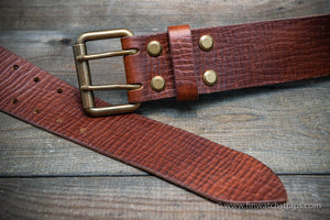 Italian leather belt (3,5-4 mm thick), width 38 mm & 44 mm.