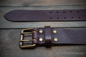leather belt (3,5-4 mm thick) for men, width 38 mm & 44 mm.