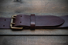 Load image into Gallery viewer, leather belt (3,5-4 mm thick) for men, width 38 mm & 44 mm.