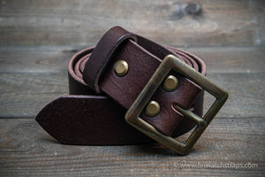 Men's leather belt (3,5-4 mm thick), width 38 mm