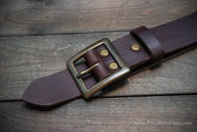 Load image into Gallery viewer, Men's leather belt (3,5-4 mm thick), width 38 mm