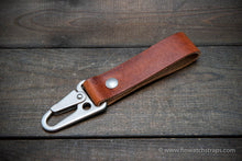 Load image into Gallery viewer, Keyring/ customizable/ Premium Horween leather. Handmade in Finland.