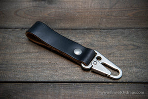 Keyring/ customizable/ Premium Horween leather. Handmade in Finland.