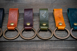 Keyring/ customisable/ Premium Badalassi wax leather