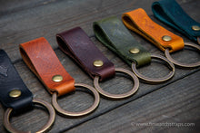 Load image into Gallery viewer, Keyring/ customisable/ Premium Badalassi wax leather