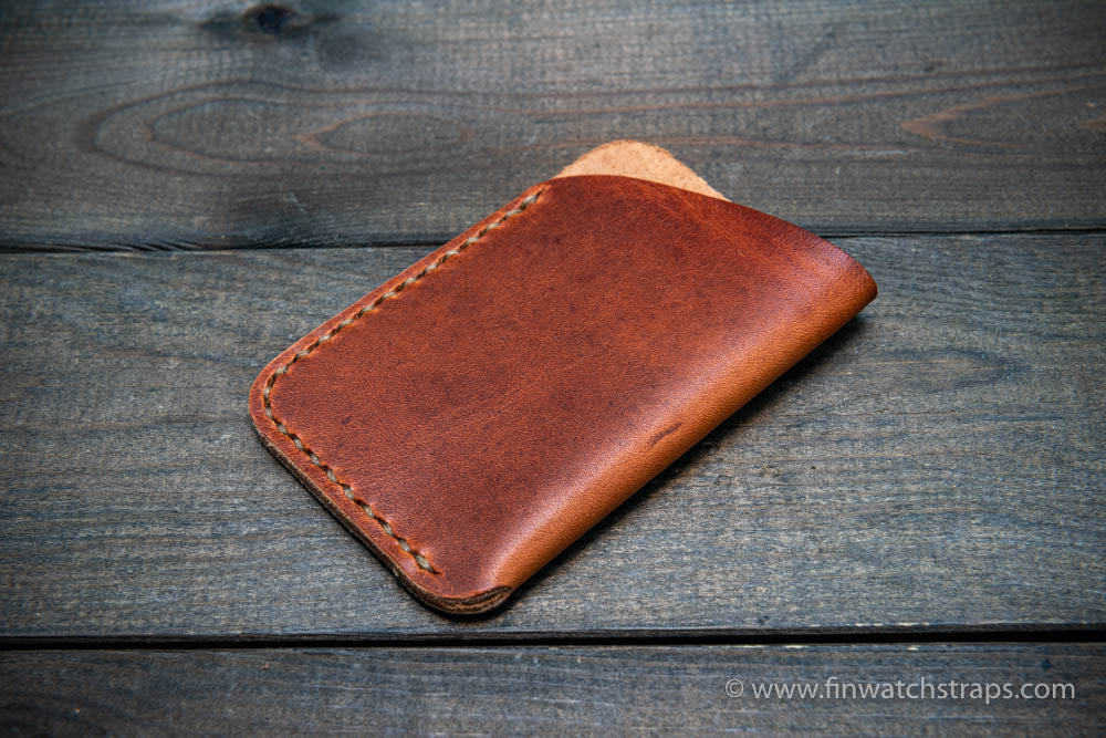Card holder Leather Horween Dublin Cognac