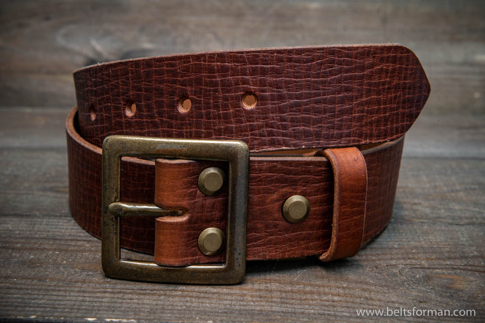 Italian leather belt (3,5-4 mm thick), Cognac, width 38 mm