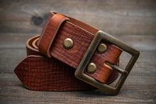 Load image into Gallery viewer, Italian leather belt (3,5-4 mm thick), Cognac, width 38 mm