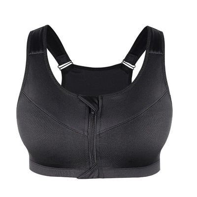 Zipper Push Up Sports Bras