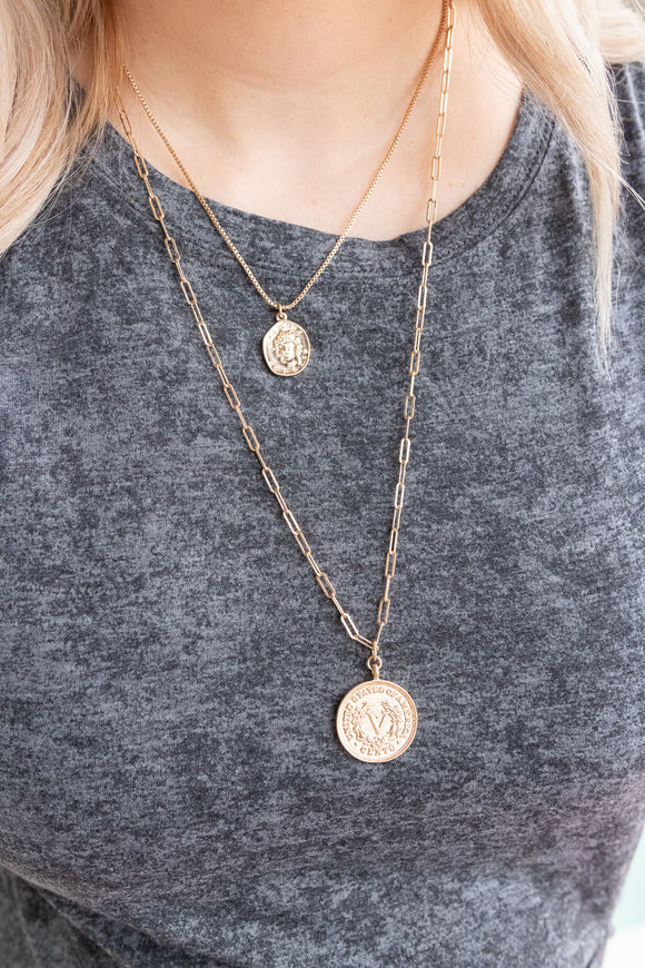 REALISTICALLY COIN NECKLACE
