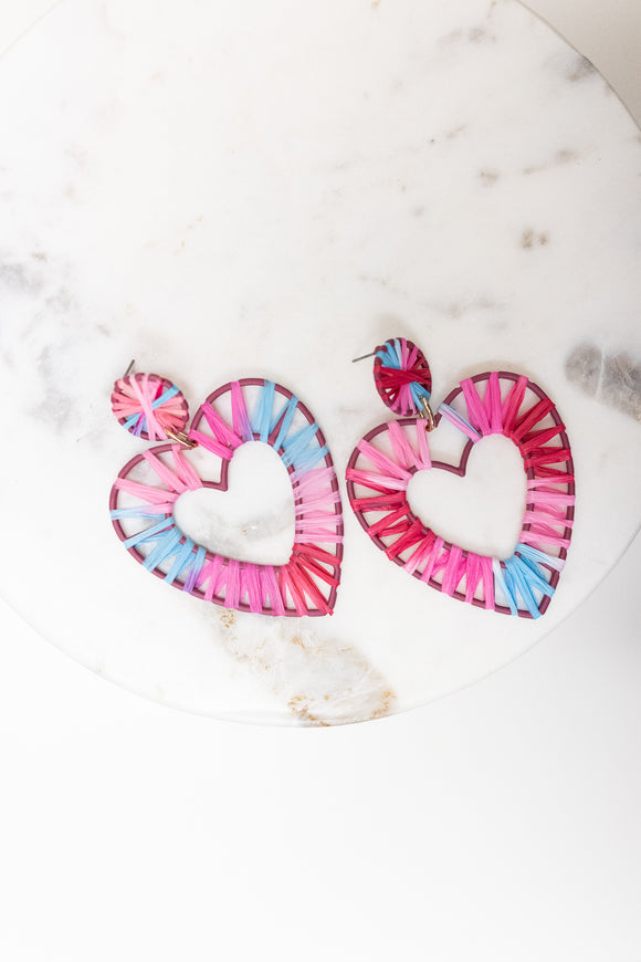 LOVER LANE HEART EARRING