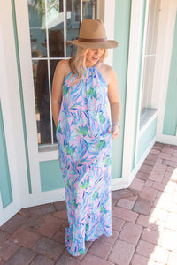 WONDERFUL JOY LEAF PRINT MAXI