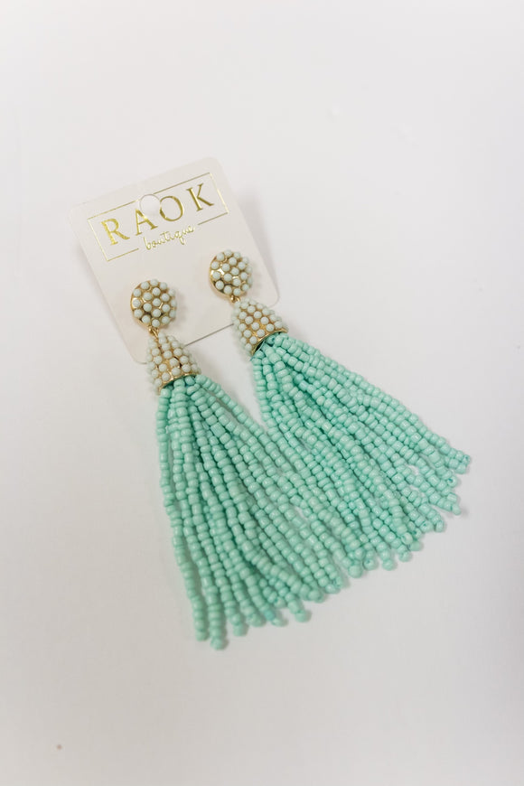 MINT TO BE TASSEL EARRING