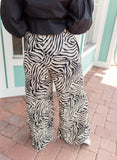 ANIMAL KINGDOM WIDE LEG ZEBRA PANT