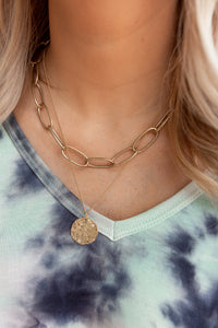 VANCOUVER DOUBLE STRAND COIN NECKLACE