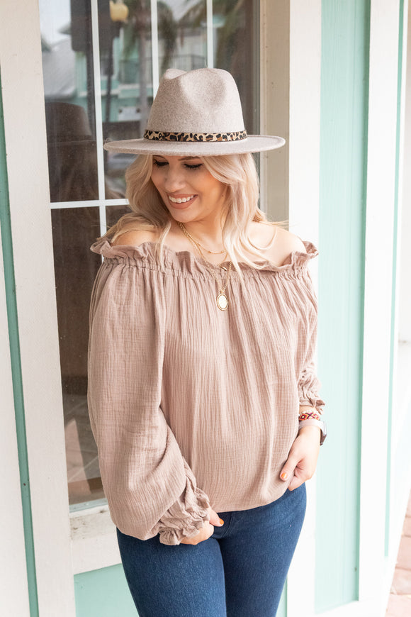 CORNELIA STREET OFF THE SHOULDER BLOUSE