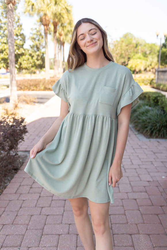 SIMPLY STELLAR RUFFLE DRESS