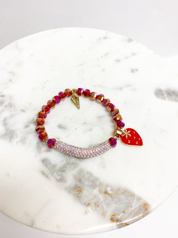 DAZZLE BERRY BAR BRACELET