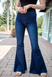 MOONSHINE HIGH WAISTED FLARED JEANS