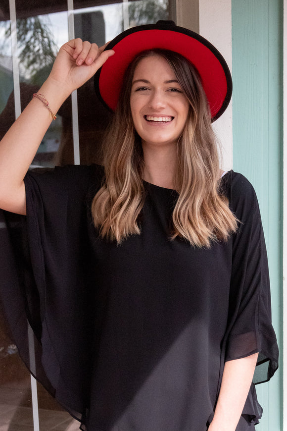 HIGHLY FAVORED FLOWY CAPE TOP