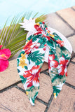 TROPICAL MINDSET SILK HAIR SCARF