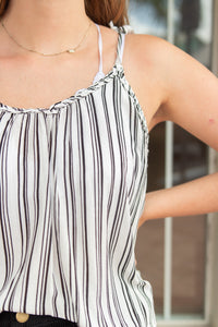 LIGHT UP THE WORLD STRIPED CAMI