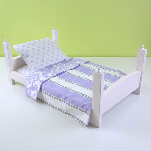 Lavender Stripes Bed Linens