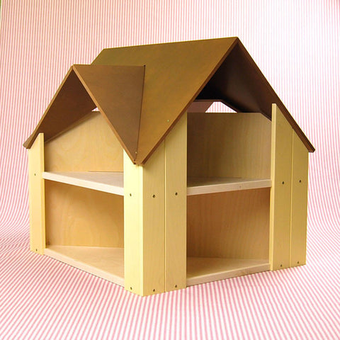 Custom Cottage Dollhouse Brown Yellow