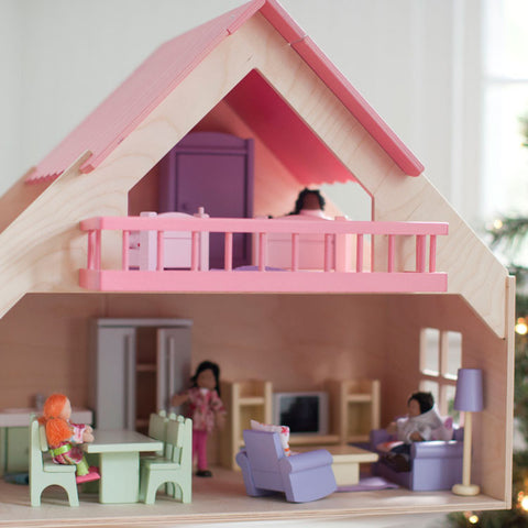 Eco-Friendly Dollhouse Furniture Living Room Set