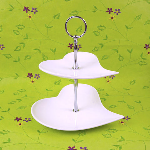 2 Tiered Heart Cake Stand