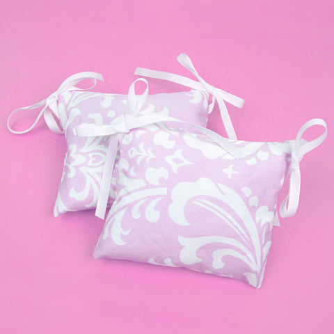 Light Pink Damask Doll Chair Cushions (set of 2)