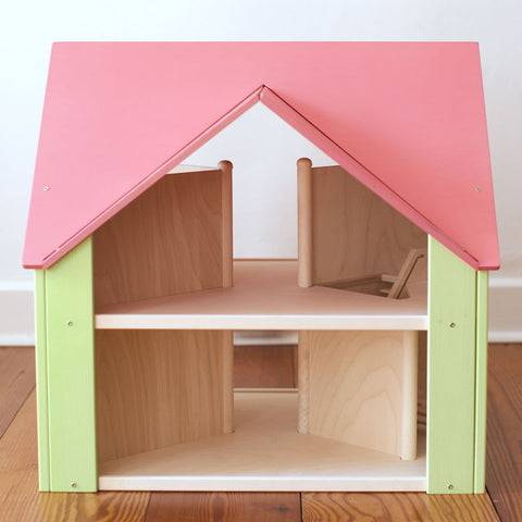 Custom Cottage Dollhouse Pink Green