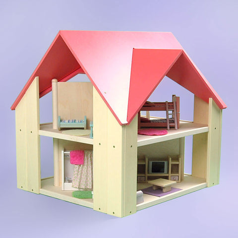 Custom Cottage Dollhouse Pink Yellow