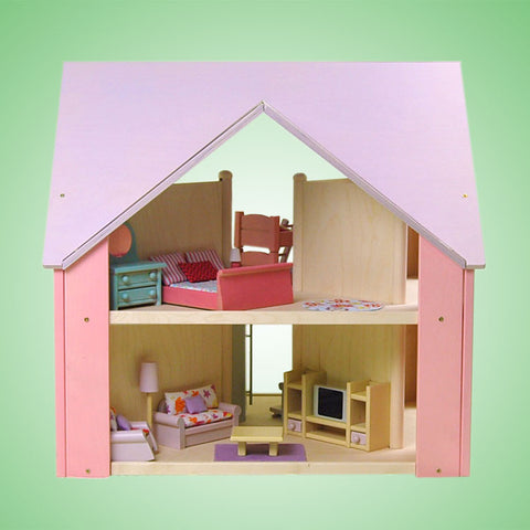 Custom Cottage Dollhouse Lavender Pink