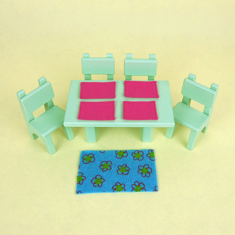 Eco-Friendly Dollhouse Furniture Dining Set