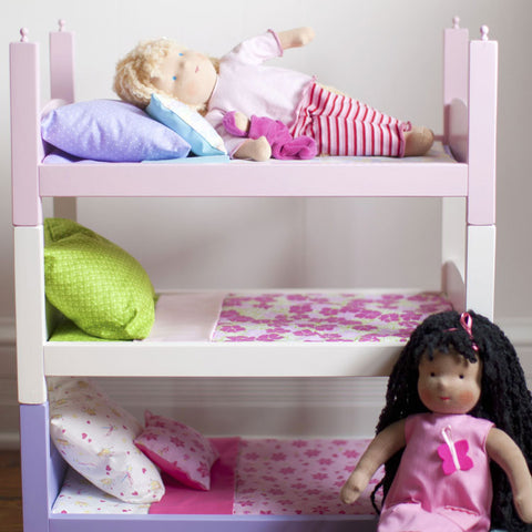 White Stacking Doll Bed